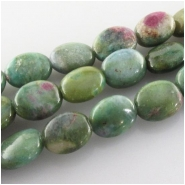 Ruby in Fuchsite oval gemstone beads (N) Approximate size 8 x 10mm 15.7 inch
