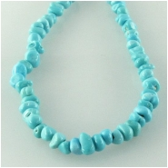 Turquoise Sleeping Beauty Zachery processed small pebble nugget gemstone beads Approximate size 3 x 4mm to 3.9 x 5.9mm 18 inch