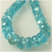 Apatite faceted rondelle gemstone beads (N) Approximate size 4.4 to 5.4mm diameter 14 inch