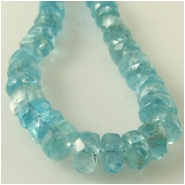 Apatite faceted rondelle gemstone beads (N) Approximate size 4.3 to 4.7mm diameter 13.5 inch