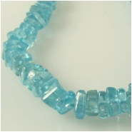 Apatite flat square gemstone beads (N) Approximate size 3 to 3.5mm 8 inch
