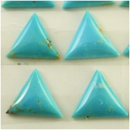 4 Turquoise Hubei triangle cabochon loose cut gemstones (S) Approximate size 10 to 11mm x 2.3 to 2.9mm deep