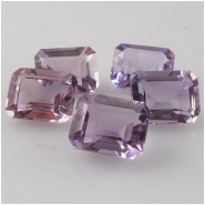 1 Amethyst faceted baguette loose cut gemstone (H) 8 x 10mm CLOSEOUT