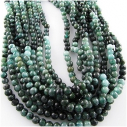 Emerald  round gemstone beads (O,D) 4.3 to 4.8mm