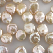 Pearls peach baroque drop briolette beads (D) Approximately 8 x 9mm to 9 x 10mm 16 inch Top side drilled