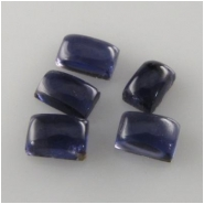 2 Iolite plain rectangle cabochon loose cut gemstones (N) Approximately 4 x 6mm