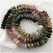 Tourmaline hand cut button rondelle gemstone beads N) Approximately 4.8 to 5.2mm 15.4 inch   CLOSEOUT