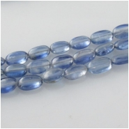 Kyanite blue oval gemstone beads (N) Approximate size 4 x 5.5mm to 5 x 8mm 14 inch