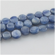 Kyanite blue coin gemstone beads (N) Approximate size 6.5 to 7mm 15 inch
