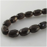 Smoky Quartz faceted barrel gemstone beads (H) Approximate size 9 x 13mm to 10 x 14mm 15.7 inch
