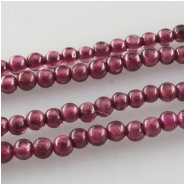 Garnet tiny round gemstone beads (N) Approximate size 1.8mm 13.5 inch
