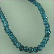 Apatite blue faceted tiny round gemstone beads (N) Approximate size 2mm to 2.2mm 13.2 inch