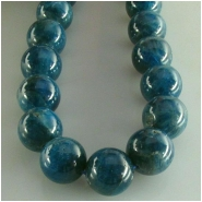 Apatite blue large round gemstone beads (N) Approximate size 12mm  15.5 inch