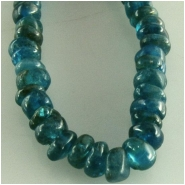 Apatite blue hand cut rondelle gemstone beads (N) Approximate size 3.7 to 4.2mm  13.5 inch