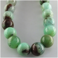 Chrysoprase Australian round gemstone beads (N) Approximate size 10 to 11mm  16 inch