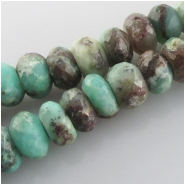 Chrysoprase Australian faceted rustic rondelle gemstone beads (N) Approximate size 8.7 to 10mm  9.7 inch
