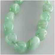 Chrysoprase nugget gemstone beads (N) Approximate size 6 x 7mm 7.2 to 7 x 11mm  16 inch