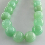Chrysoprase round gemstone beads (N) Approximate size 9.8mm to 11mm  15.5 inch