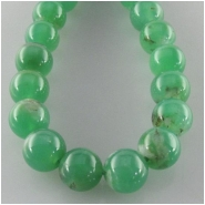 Chrysoprase round gemstone beads (N) Approximate size 6mm 15 inch