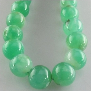 Chrysoprase round gemstone beads (N) Approximate size 7mm 7.2 to 7.7mm  15 inch