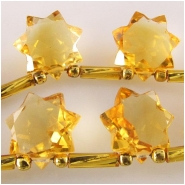 1 Citrine AA faceted star briolette gemstone bead (N) Approximate size 10.7 x 11mm to 11.6 x 11.6mm
