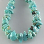 Turquoise Lone Mountain nugget Zachery process gemstone beads Approximate size 3 x 4.7mm to 4.4 x 5.7mm 18 inch