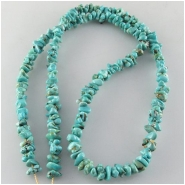 Turquoise Lone Mountain nugget Zachery process gemstone beads Approximate size 3 x 6mm to 4.1 x 7.9mm 18 inch
