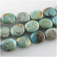 Turquoise Maan Shan oval gemstone beads (S) Approximate size 10 x 12mm 16 inch