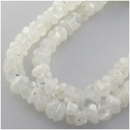 Moonstone hand cut faceted rondelle gemstone beads (N) Approximate size 5 to 5.5mm 14 inch minor flash
