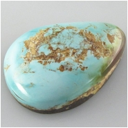 1 Turquoise Royston cabochon gemstone (N) Approximate size 17 x 25 x 7.7mm deep Backed