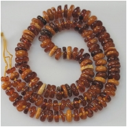Baltic Amber Multicolor Graduated Disc Gemstone Beads (N) Approximate Size  6.2 to 9.5mm 19.5 inches