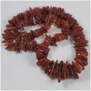 Baltic Amber Antique Graduated Center Drilled Chip Gemstone Beads (N) Approximate Size 5 x 8mm to 12.4 x 22.7mm 18 inches