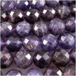 Amethyst faceted round gemstone beads (N) 7.9 to 8.3mm CLOSEOUT