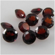 10 Garnet faceted round cut loose gemstone (N) 4mm CLOSEOUT