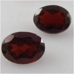 2 Garnet faceted oval cut loose gemstone (N) 6 x 8mm CLOSEOUT