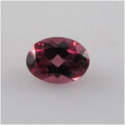 1 Rhodolite garnet faceted oval cut loose gemstone (N) 5 x 7mm CLOSEOUT
