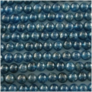 Apatite neon blue round gemstone beads (N) Approximately 4mm 15.5 inch