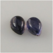 2 Iolite pear cabochon loose cut gemstones (N) Approximately 5 x 7mm