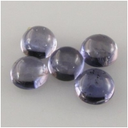 5 Iolite round cabochon loose cut gemstones (N) Approximately 4mm