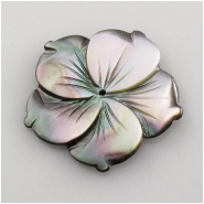 1 Abalone shell flower button bead (N) Approximate size 30mm Center drilled