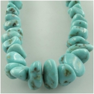 Turquoise Campitos graduated nugget gemstone beads (S) Approximate size 3.5 x 5mm to 8 x 11mm 18 inch