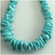 Turquoise Campitos graduated flat nugget gemstone beads (S) Approximate size 3 x 4mm to 5 x 9mm 18 inch