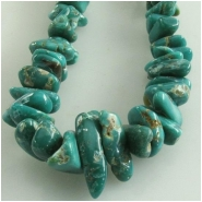 Turquoise Carico Lake graduated nugget gemstone beads (N) Approximate size 4 x 4mm to 5 x 11mm 18 inch