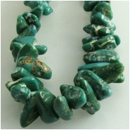 Turquoise Fox graduated nugget gemstone beads (N) Approximate size 4.5 x 5mm to 7.5 x 11mm 24 inch