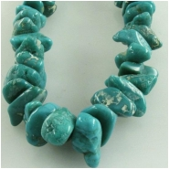 Turquoise Fox graduated nugget gemstone beads (N) Approximate size 4 x 5mm to 6 x 11mm 24 inch