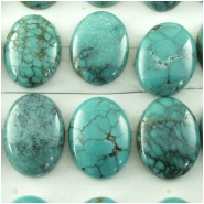 1 Turquoise Hubei oval gemstone cabochon (S) Approximate size 13 x 18mm
