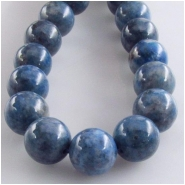 Lapis Denim round gemstone beads (S) Approximate size 10mm 16 inch