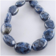 Lapis Denim oval gemstone beads (S) Approximate size 10 x 14mm 16 inch