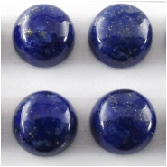 2 Lapis AAA round loose cut cabochon gemstones (N) Approximate size 8mm, 7.8 to 8.1mm