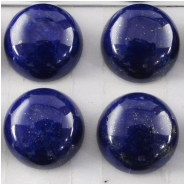 1 Lapis AAA round loose cut cabochon gemstone (N) Approximate size 10mm. 9.7 to 10.1mm